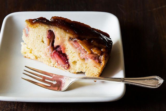 Strawberry Balsamic and Olive Oil Breakfast Cake