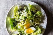 Spring Salad with Asparagus and Soft-Boiled Eggs