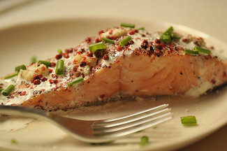 Salmon with ginger