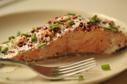 Salmon Papillotes with Red Peppercorns, Lime and Fresh Ginger