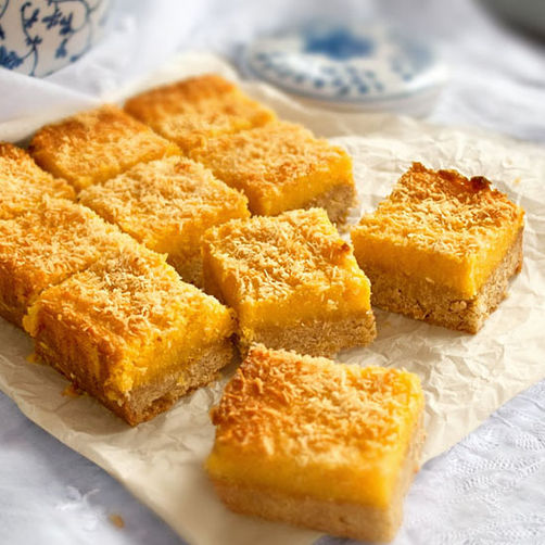 lemon curd coconut bars recipe on food52