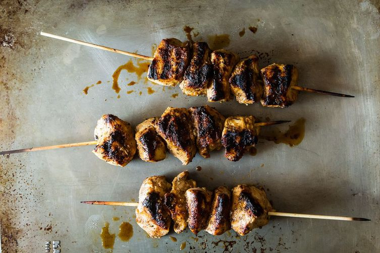 Jerk Chiken Kebabs from Food52