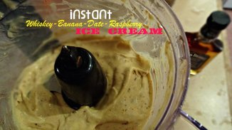Instant Whiskey-Banana-Date-Raspberry Ice Cream