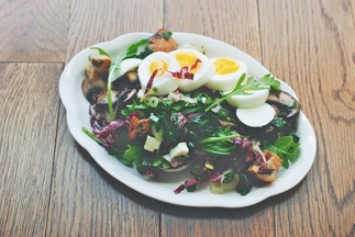 Mushroom, Ramp, and Mozzarella Salad