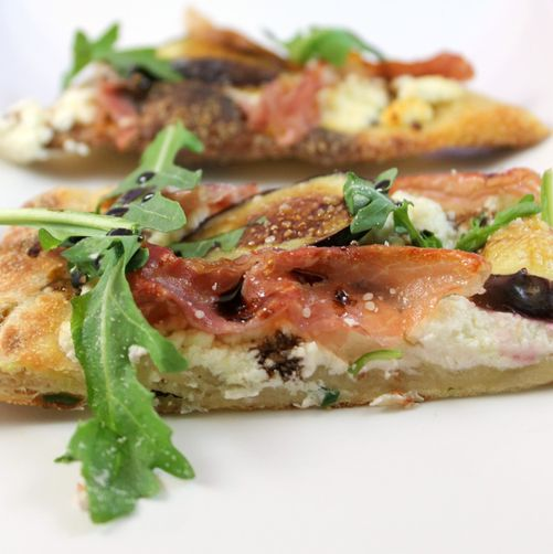 Prosciutto, Fig, and Arugula Flatbread
