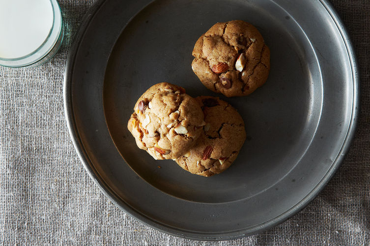 Almond Butter, Dark Chocolate & Coconut Cookies