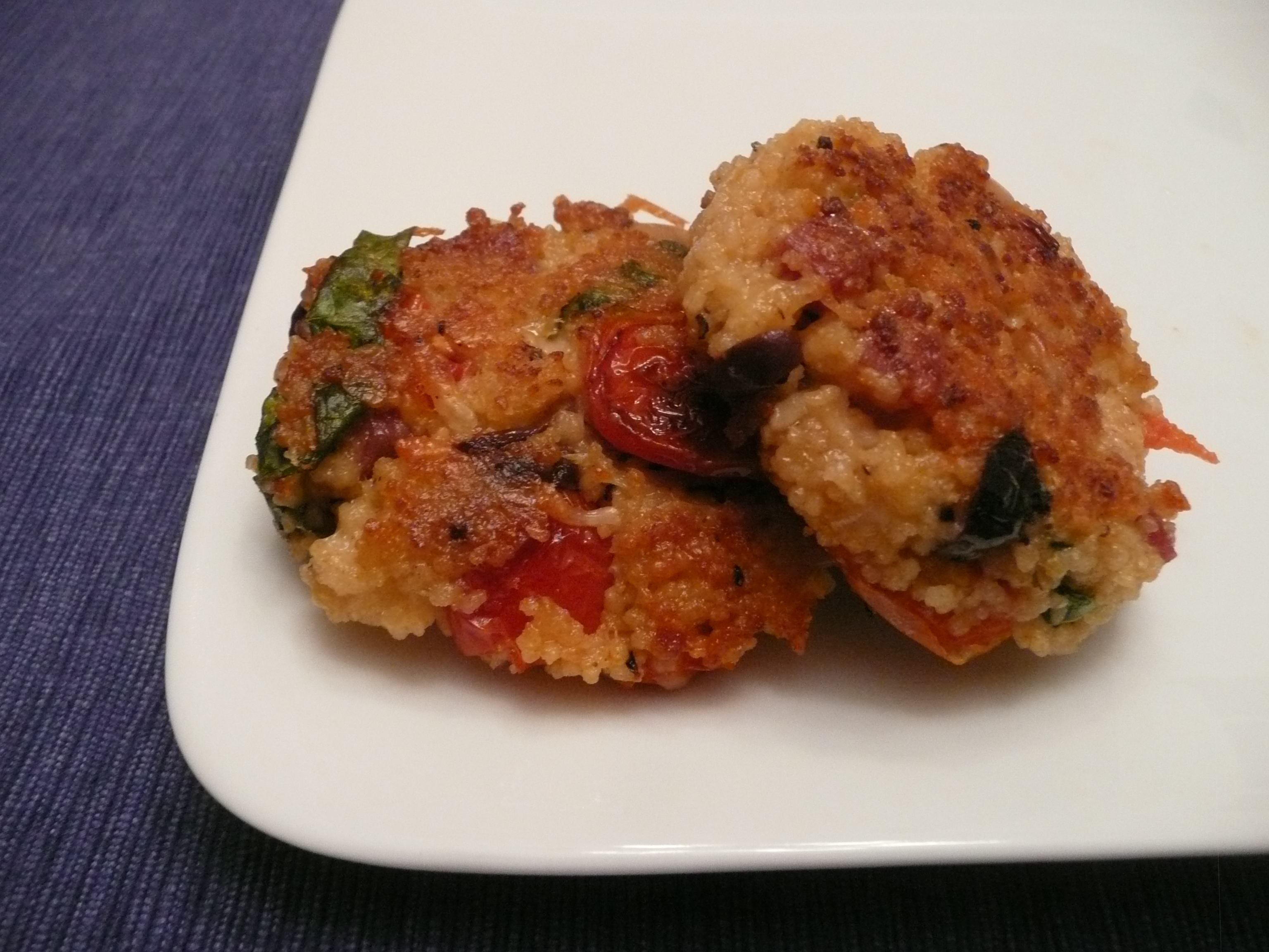 Antipasto Couscous Cakes