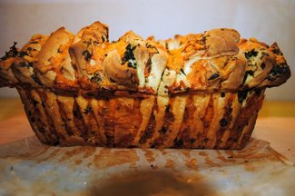CHEESE & HERB PULL-APART GARLIC BREAD