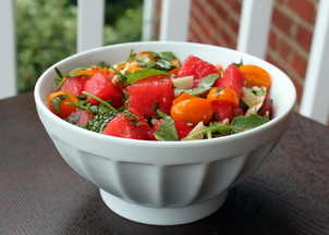Watermelon, Tomato & Four Herb Salad