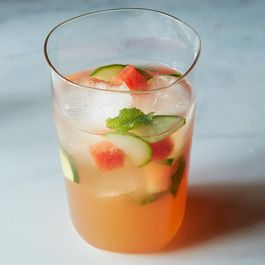 Watermelon, Mint, and cider vinegar Tonic by Ruthie Selch