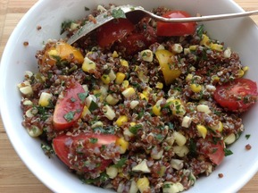 Summer Quinoa Salad with Corn and Fresh Herbs