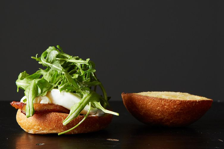 Poached egg sandwich from Food52