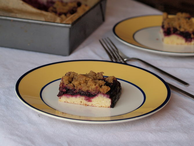 Blueberry cornmeal brown butter crumb bars (whew, what a mouthful ...