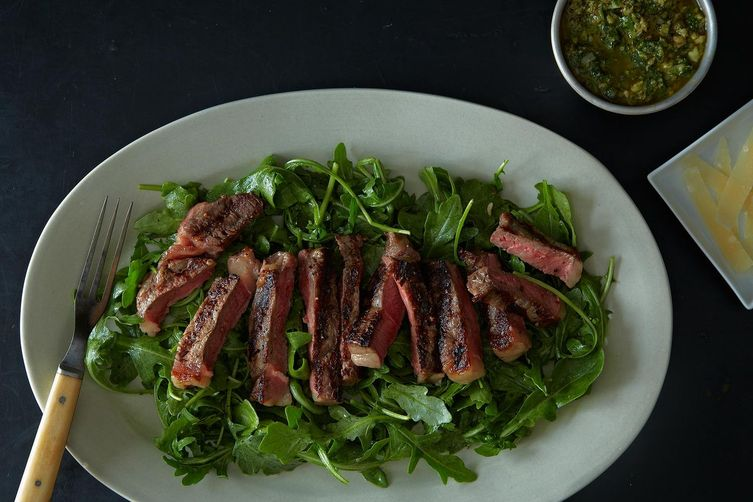 Grilled Steak Salad with Italian Salsa Verde from Food52