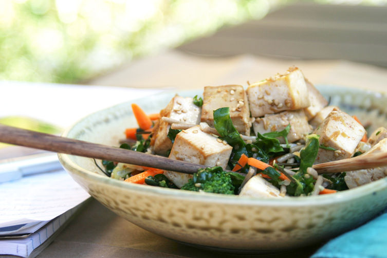 Citrus Ginger Tofu Salad with Buckwheat Soba Noodles Recipe on Food52