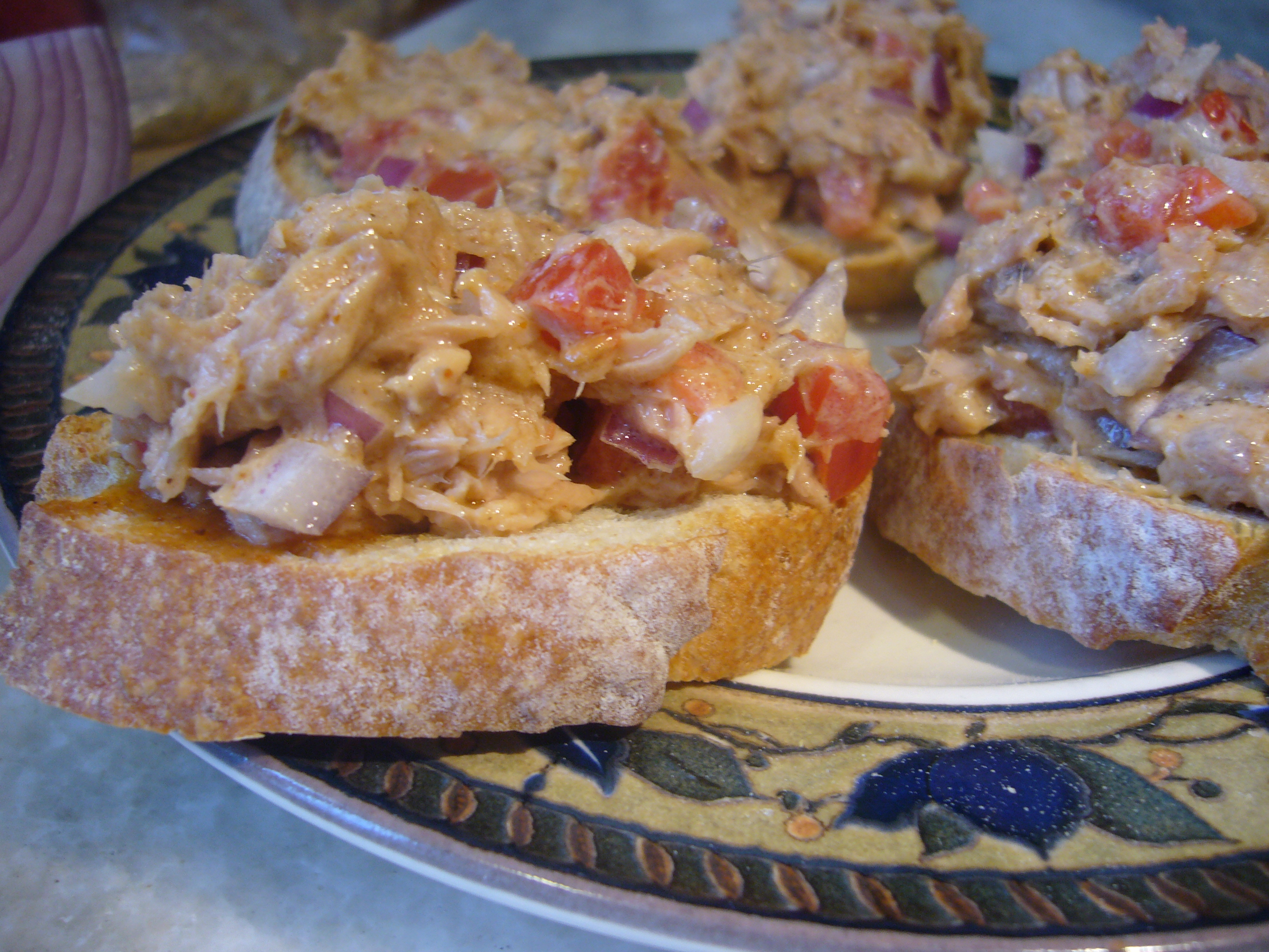 Curried Tuna Bruschetta