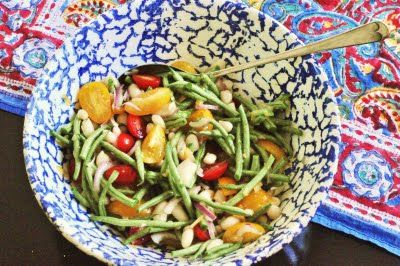 Summery Bean Salad with Preserved Lemon Vinaigrette