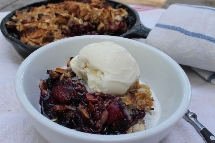 Grilled Berry Crisp Recipe — Dishmaps