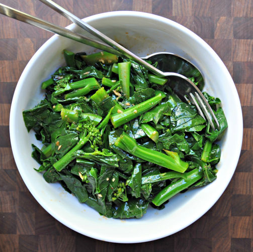 Chinese Broccoli Salad with Sesame Sriracha Dressing from Food52