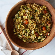 Freekeh with Summer Squash & Brown Butter