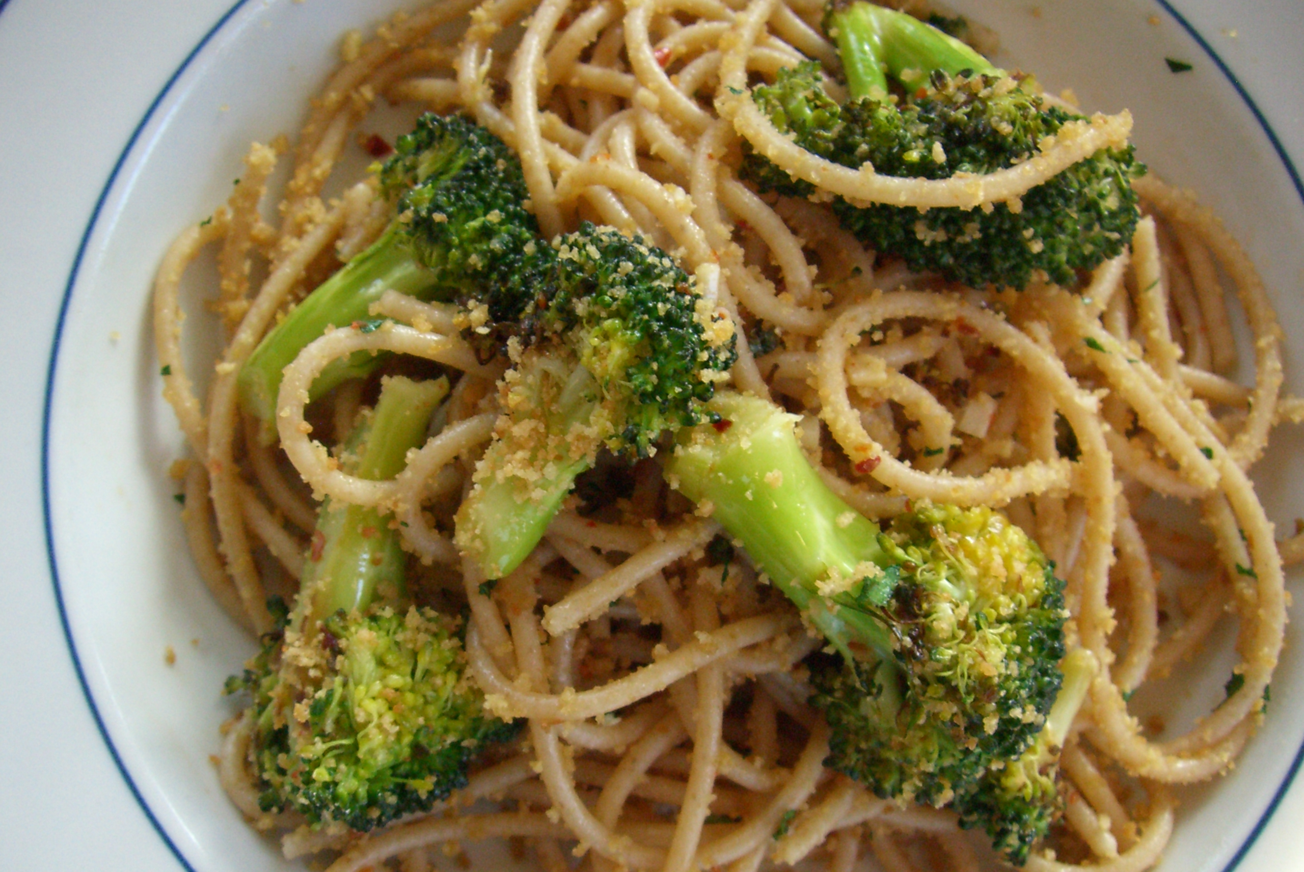 "Broccoli Aglio Olio With ""Gremolata"" Breadcrumbs"