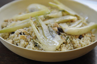 Couscous with Roasted Fennel and Toasted Almonds