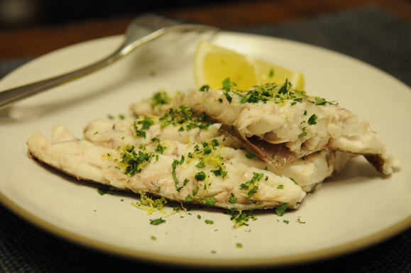 Whole Baked Fish in Sea Salt with Parsley Gremolata from Food52
