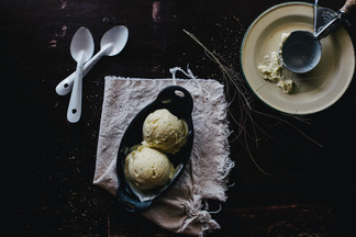 Sweet Corn and Black Pepper Ice Cream