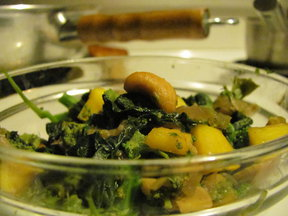 Mango Cashew Broccoli Rabe
