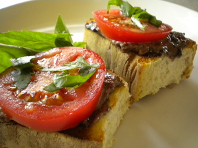 Tapenade and Tomato Toast