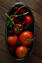 Summer's End Tomato Blackberry Salsa