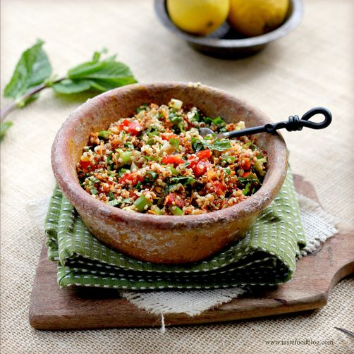 Quinoa and Carrot Tabbouleh Salad