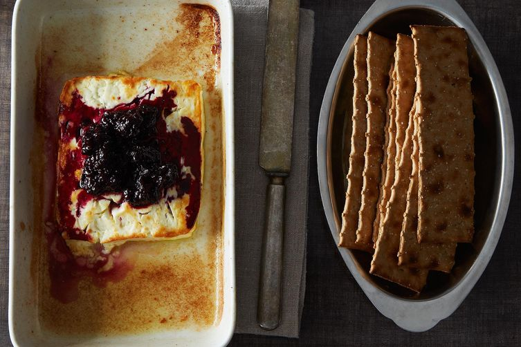 Baked Feta with Rosemary Blackberry Jam on Food52