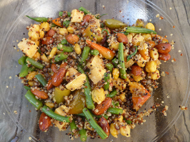 Quinoa, Wheat Berry, and Chickpea Salad with Green Beans recipe on ...
