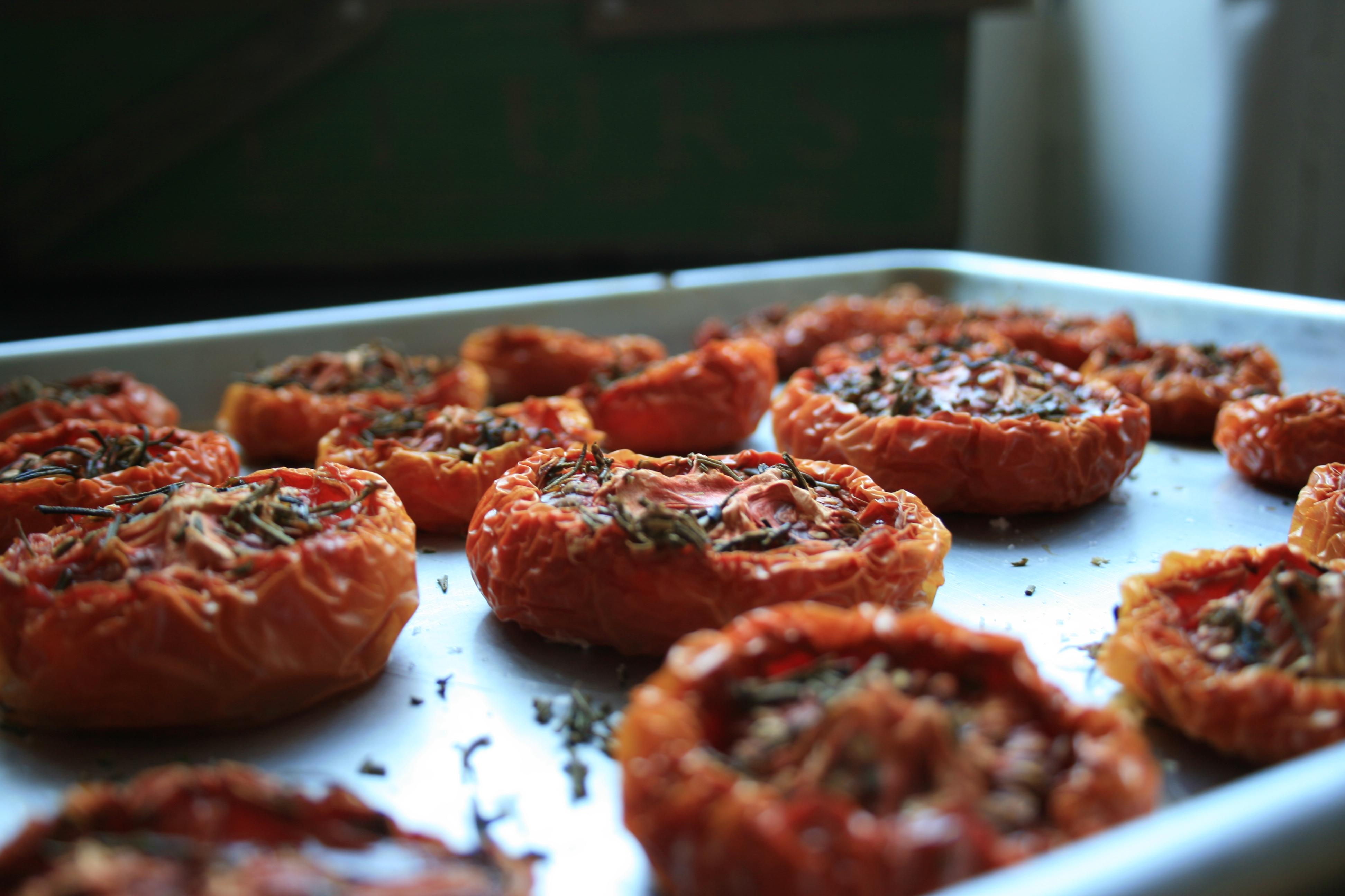 Slow Roasted Tomato, Caramelized Onion and Goats Cheese Tart