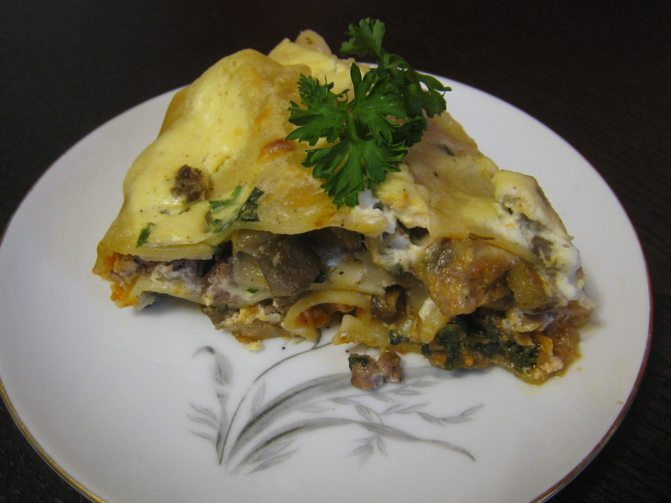 Luscious Lamb Lasagna with Eggplant and Spinach