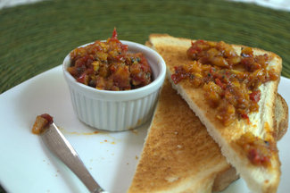 Cherry pepper Ginger relish
