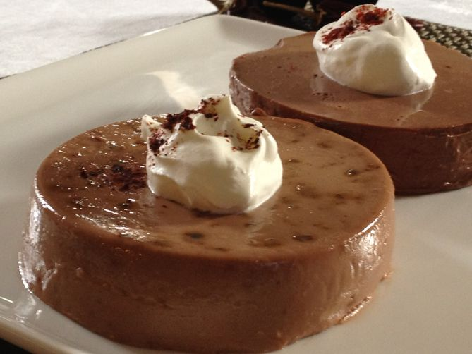 Light And Dark Spicy Chocolate Panna Cotta
