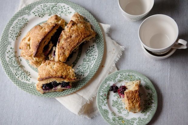 Blackberry Stuffed Scones