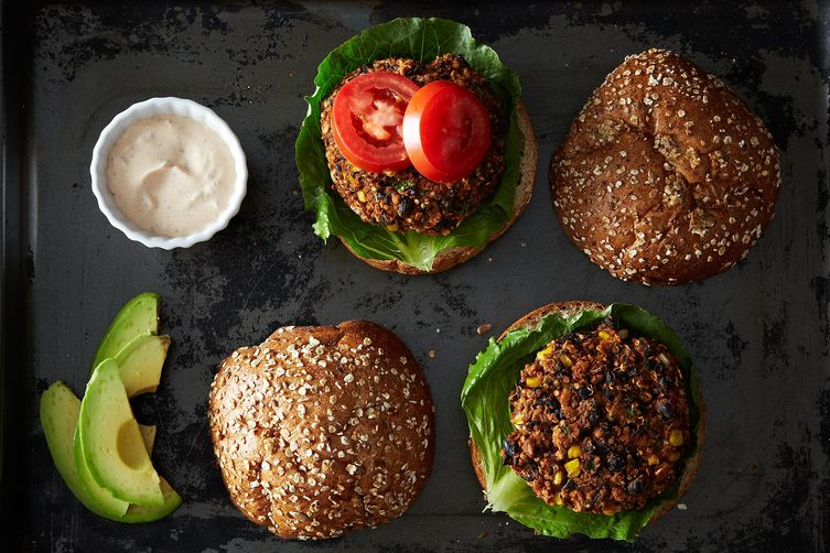 Black Bean Quinoa Burgers on Food52