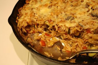 Baked Orzo Ratatouille