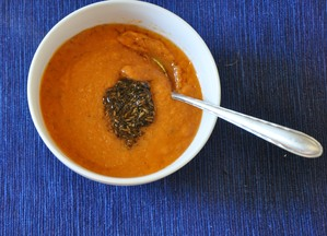 Tomato Soup with Kala Jeera and Cumin Tadka