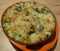 Baked Pasta with Cauliflower and Chard 