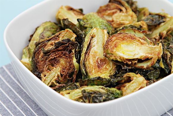 Flash-fried Brussels sprouts with garlic and lime