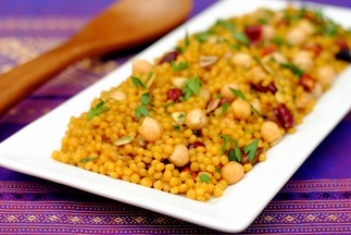 Curried Cranberry Couscous Pilaf