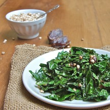Kale - Miso Saute with Dates and Millet