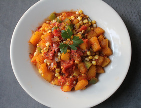 Mexican Butternut Squash and Corn Saute