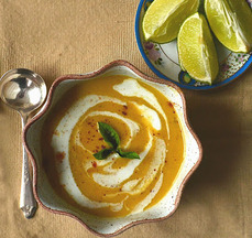 Thai Red Lentil Soup ~ Creamy Coconut Milk, Warm Spices & Lime