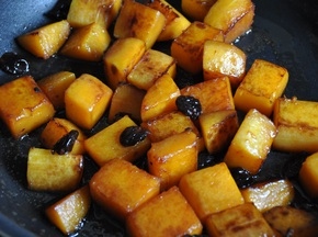 Winter Squash in Agrodolce with Dried Sour Cherries