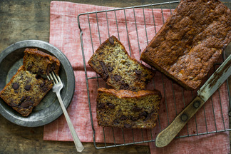 Banana Bread with Dark Chocolate Chips